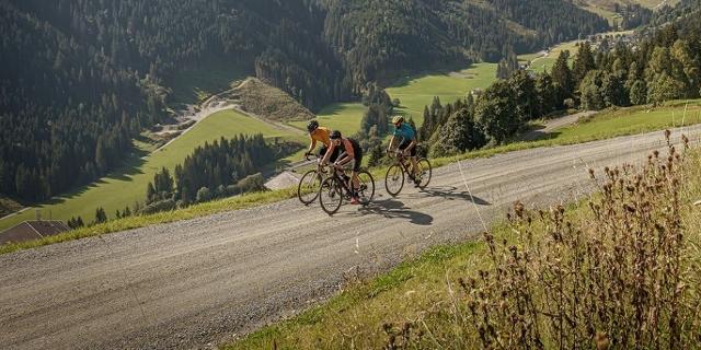 Riding a gravel bike