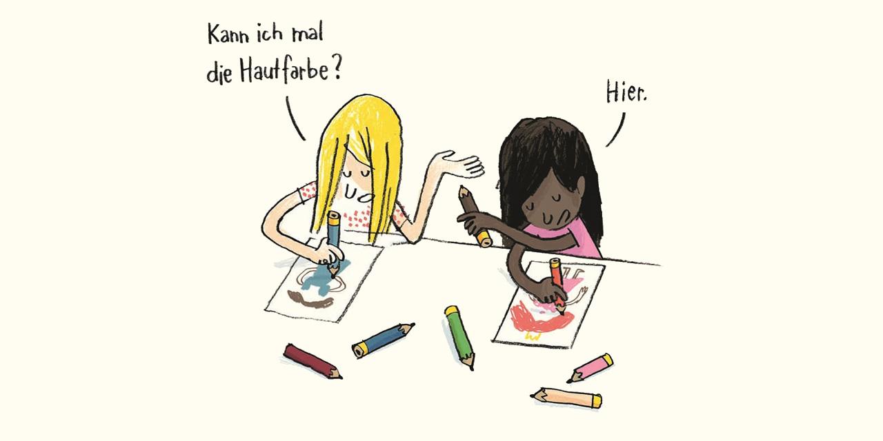 Zwei Mädchen beim Malen