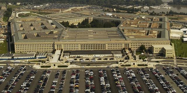 Pentagon Gebäude Luftaufnahme