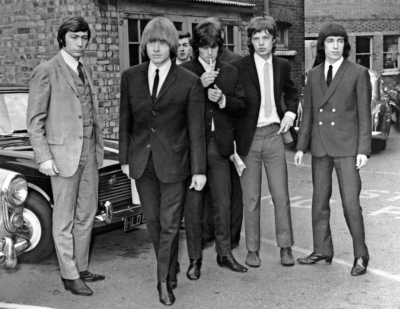 Rolling Stones 1965 in schwarzweiß