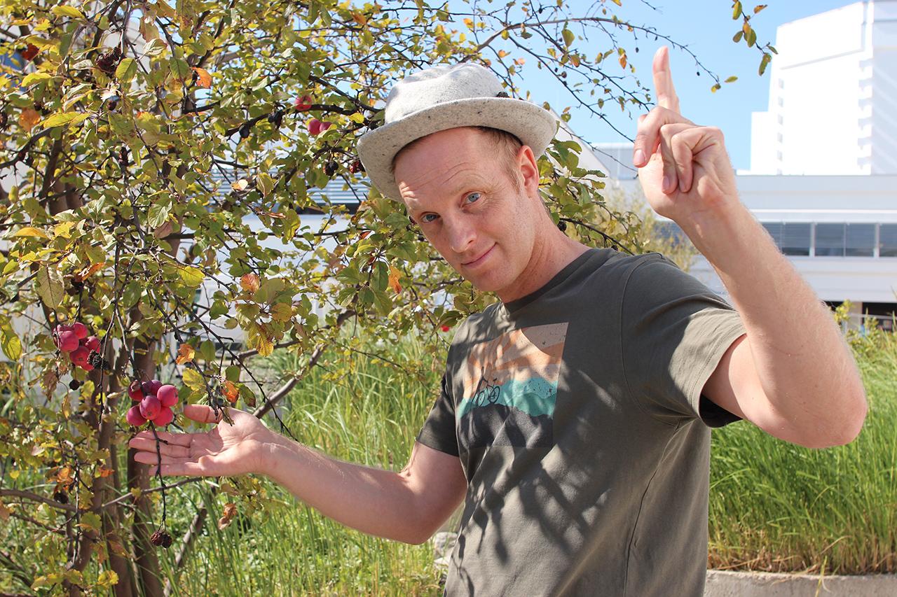 Chris Cummins und ein Obstbaum