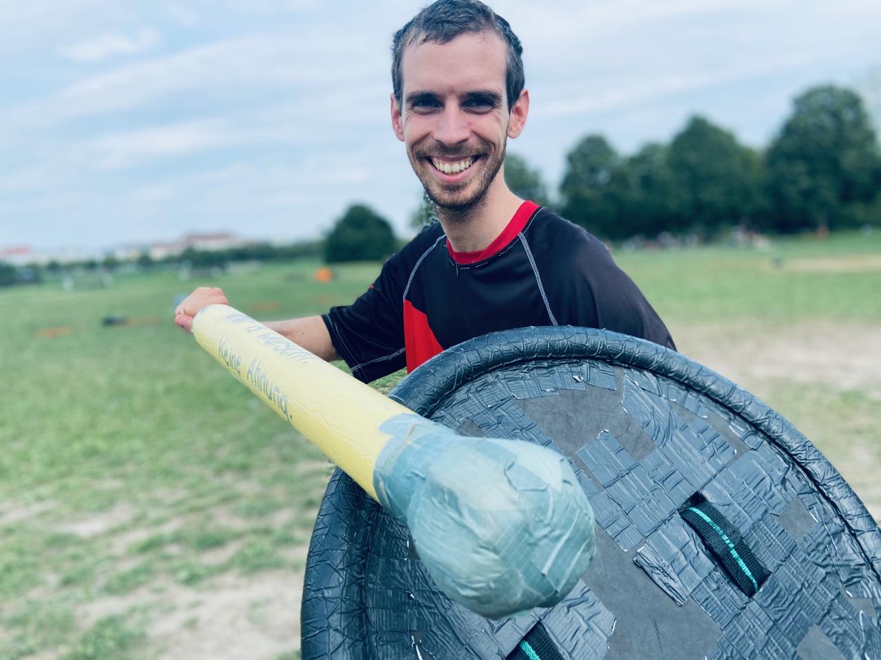 Jugger Vienna beim Training auf der Donauinsel