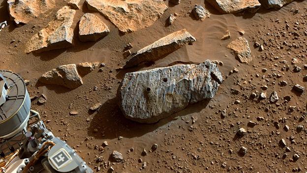 Gestein auf dem Mars