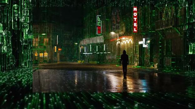 "Szene aus dem Trailer zu ""Matrix 4"""
