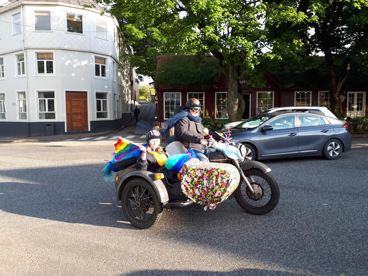 Rainbow Motorcycle, part of this year's Tórshavn Pride!