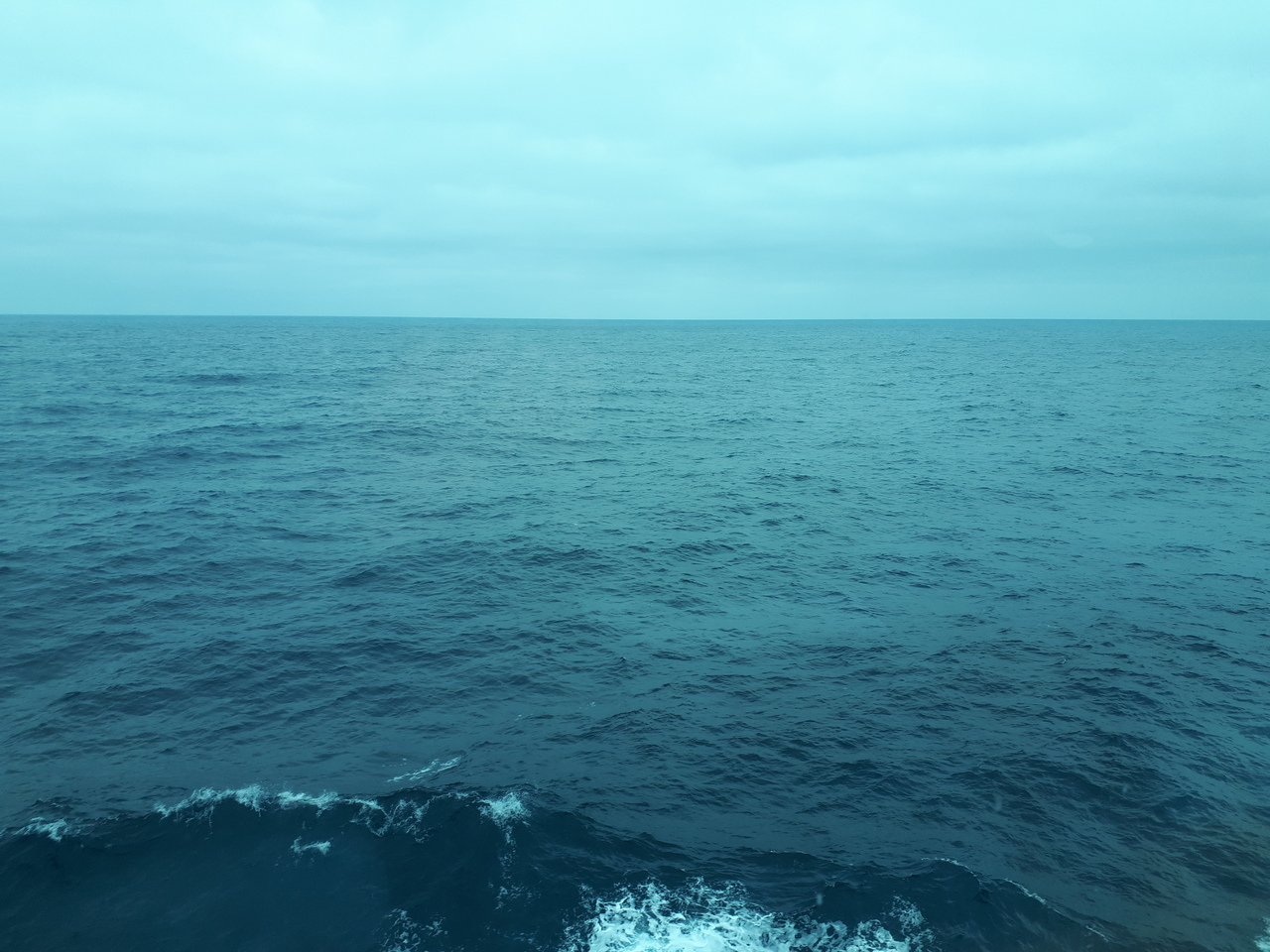 The sea, stretching out as far as I can sea... Get it? Sea?! Hahahaha