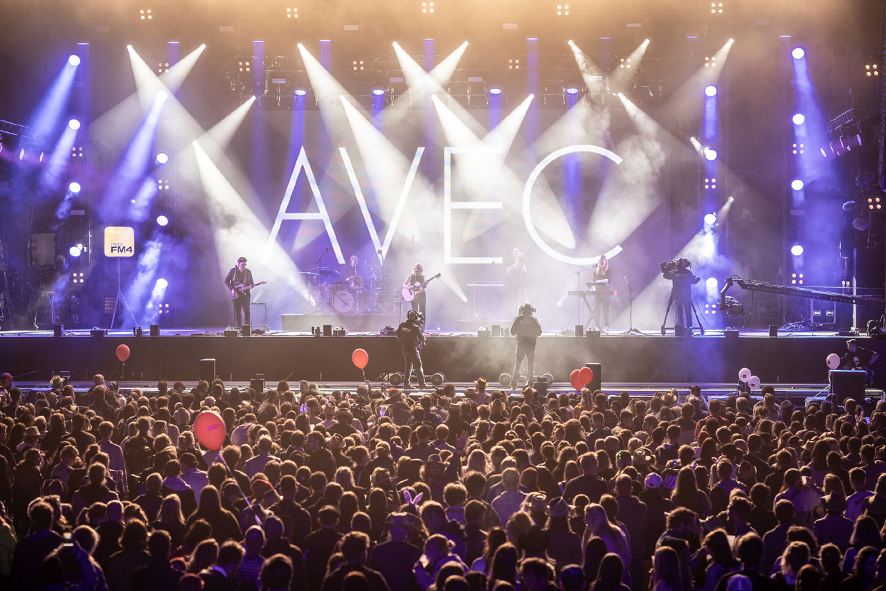 AVEC auf der Bühne
