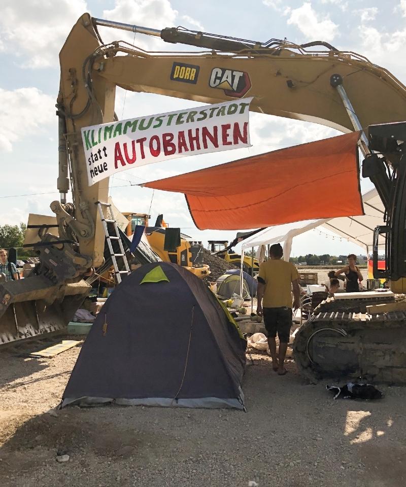 Protestcamp, Besetzungen, Baustelle, Klimaaktivist*innen