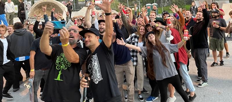 Texta und Publikum Selfie