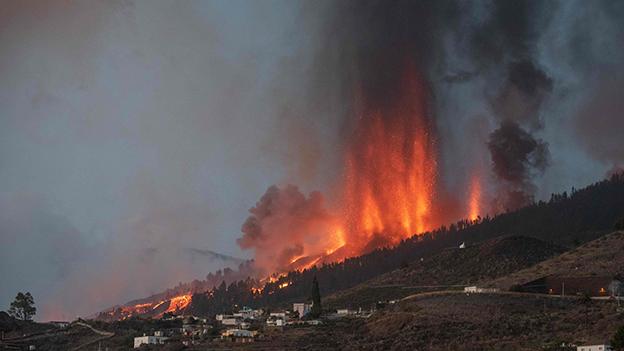Vulkan Cumbre Vieja auf La Palma, Kanaren