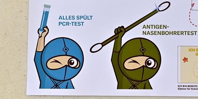 Ninja Pass für Covid-19-Tests an SchülerInnen