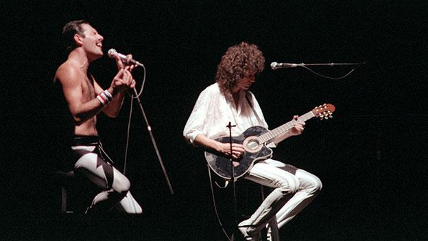 Freddie Mercury und Brian May von Queen