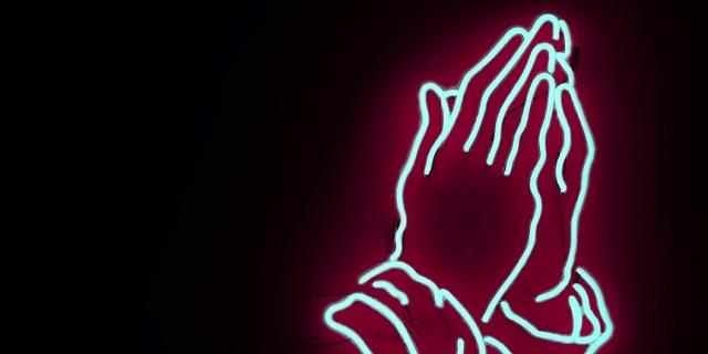 Hände gespiegelt