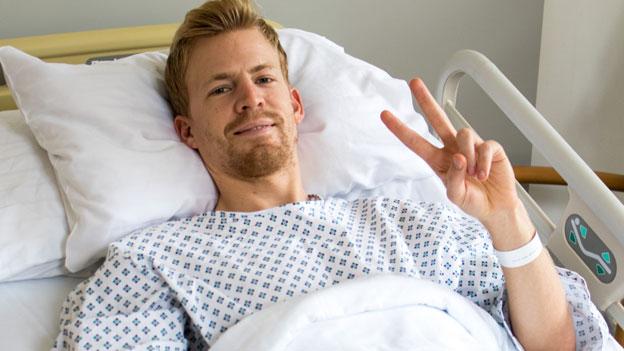 Michael Hayböck nach seiner Operation