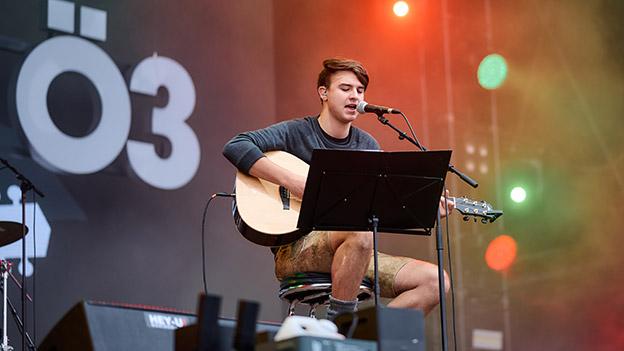 Chris Steger auf der Ö3-Bühne