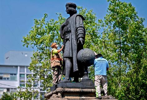 Die Statue von Columbus in Mexico-City