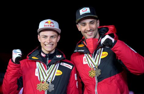 Nordische Komnination: Teamsprint mit Johannes Lamparter und Lukas Greiderer