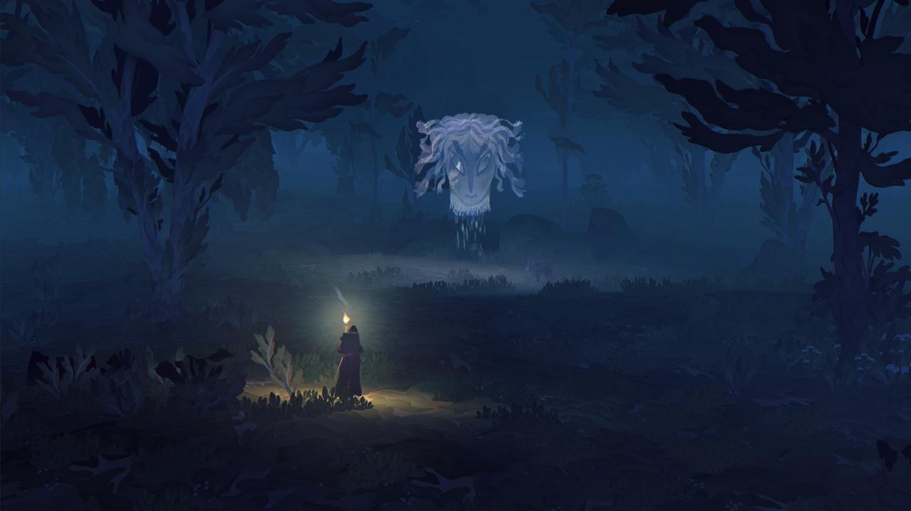 Screenshot aus Game, Mysteriöser Kopf erscheint am Himmel