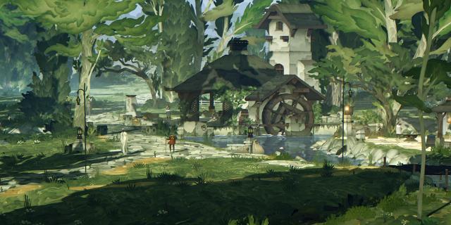 Screenshot aus Game, Alte Mühle im Wald